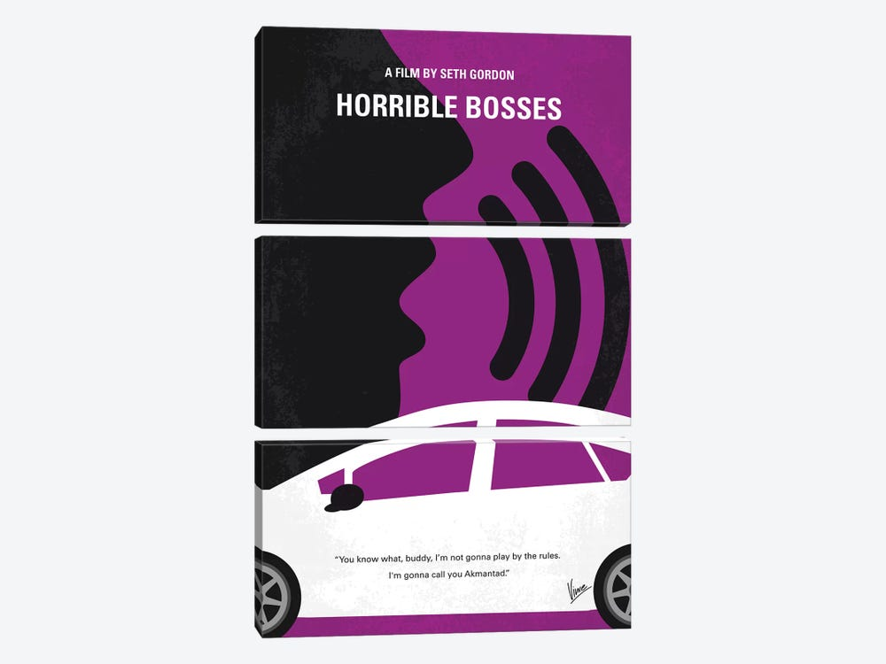 Horrible Bosses Minimal Movie Poster 3-piece Canvas Art