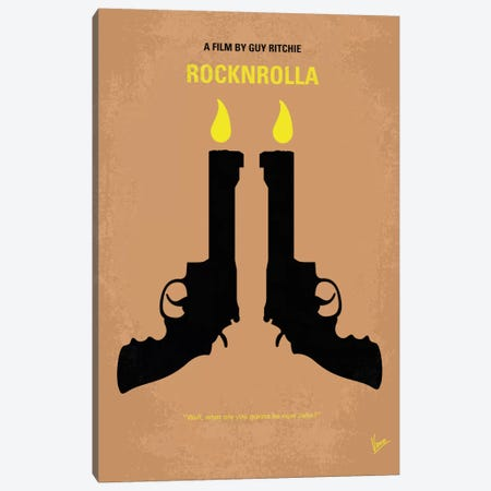 Rocknrolla Minimal Movie Poster Canvas Print #CKG88} by Chungkong Art Print