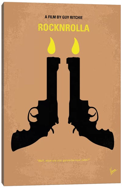 Rocknrolla Minimal Movie Poster Canvas Art Print