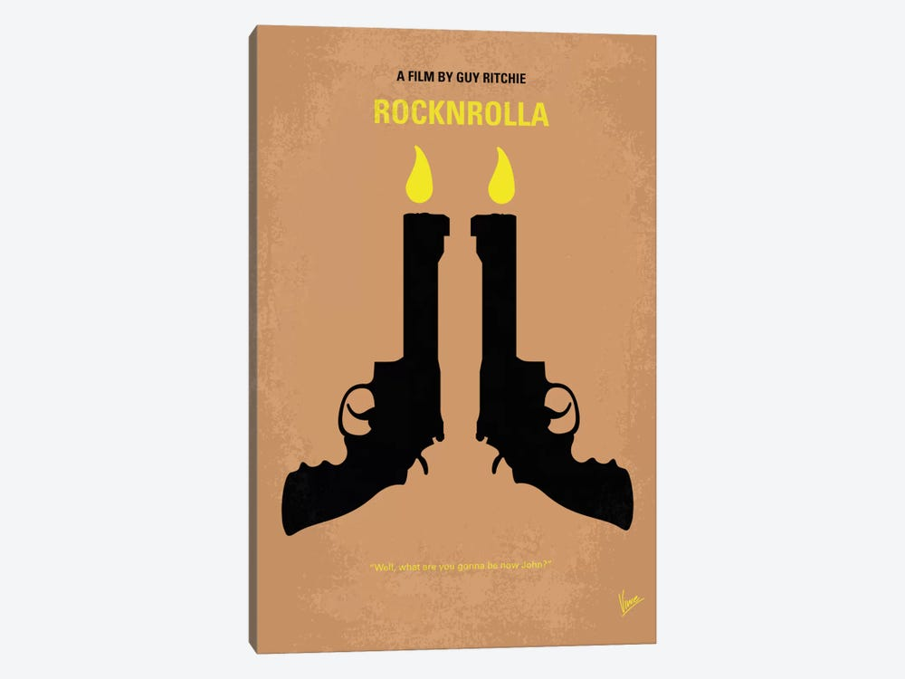 Rocknrolla Minimal Movie Poster by Chungkong 1-piece Art Print