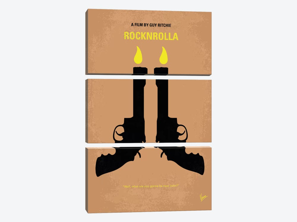 Rocknrolla Minimal Movie Poster by Chungkong 3-piece Canvas Print