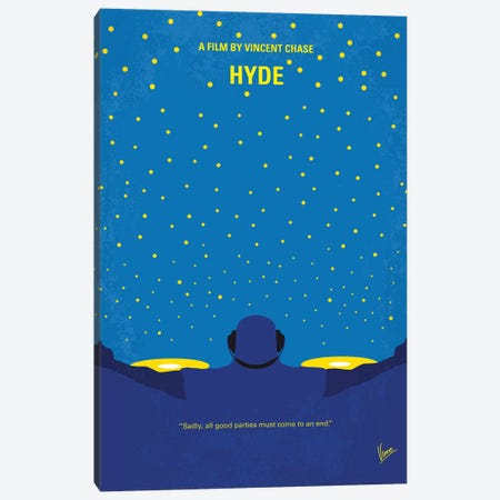 Hyde Minimal Movie Poster Canvas Print #CKG890} by Chungkong Canvas Wall Art
