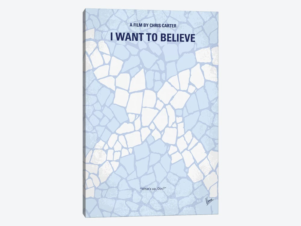 I Want To Believe Minimal Movie Poster by Chungkong 1-piece Canvas Art