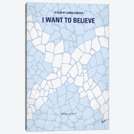 I Want To Believe Minimal Movie Poster Canvas Print #CKG891} by Chungkong Canvas Wall Art