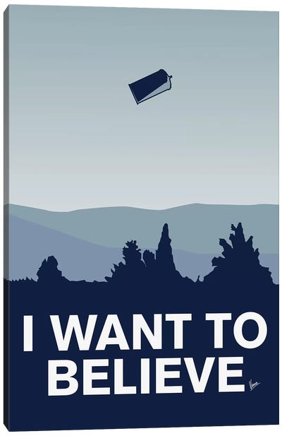 I Want To Believe Minimal Poster Tardis Canvas Art Print