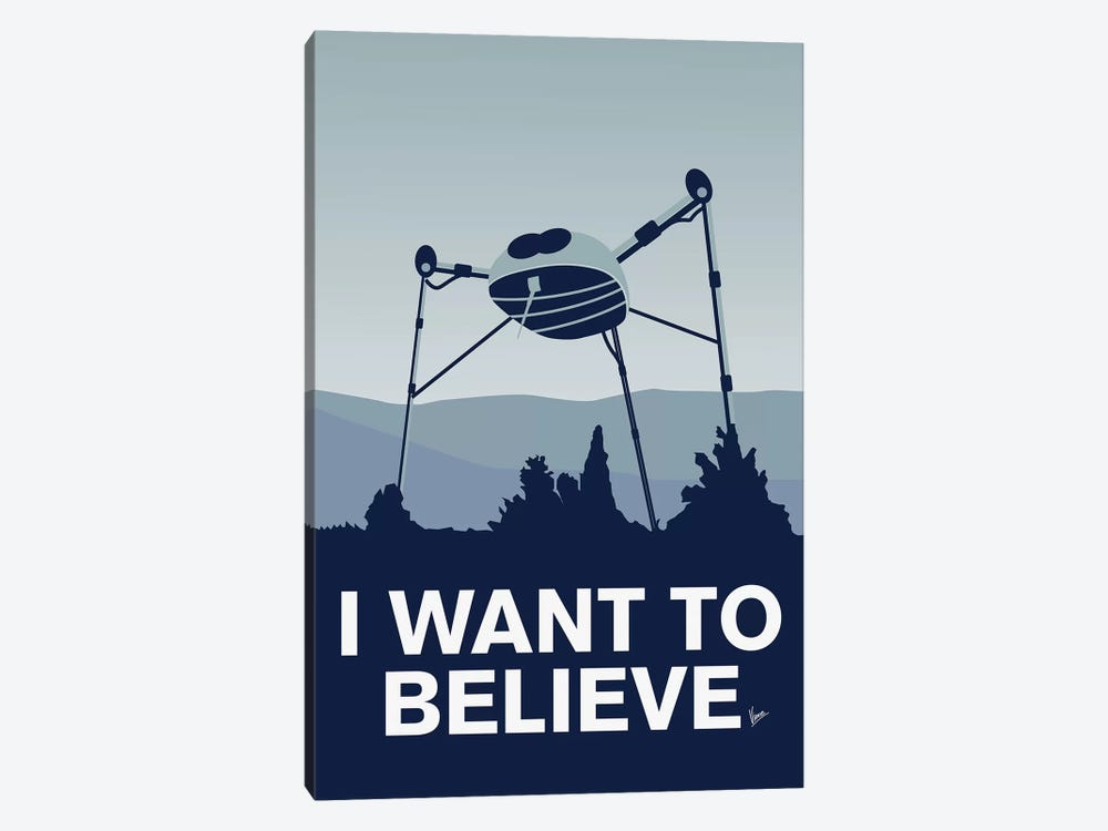 I Want To Believe Minimal Poster War Of The Worlds by Chungkong 1-piece Canvas Print