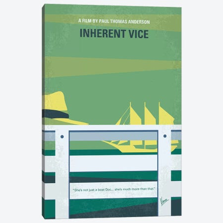 Inherent Vice Minimal Movie Poster Canvas Print #CKG896} by Chungkong Art Print