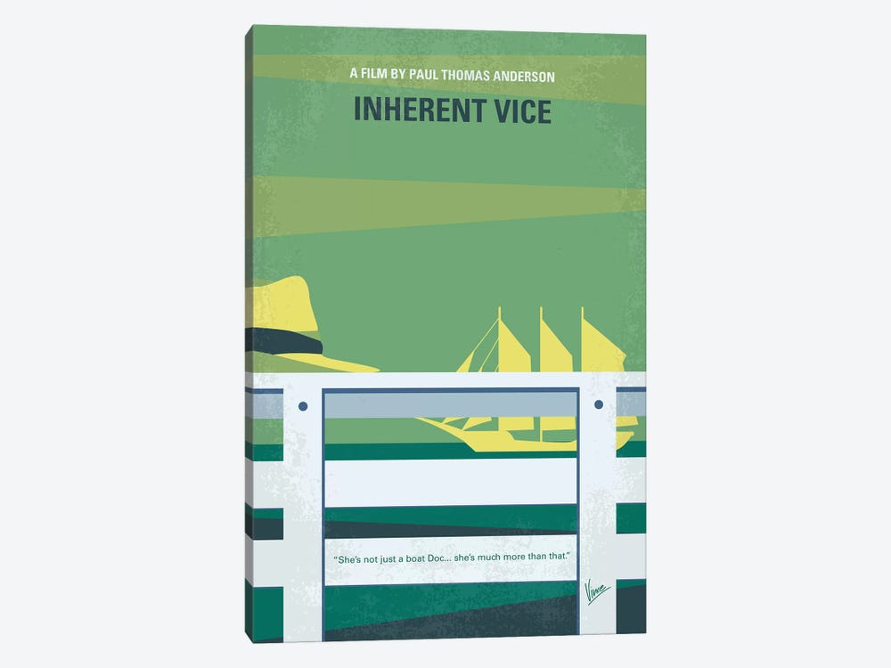 Inherent Vice Minimal Movie Poster by Chungkong 1-piece Canvas Art Print