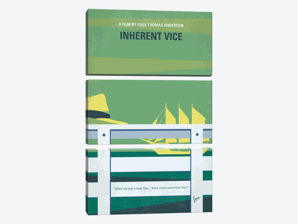 Inherent Vice Minimal Movie Poster by Chungkong 3-piece Canvas Art Print