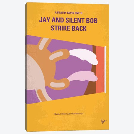 Jay And Silent Bob Strike Back Minimal Movie Poster Canvas Print #CKG897} by Chungkong Art Print