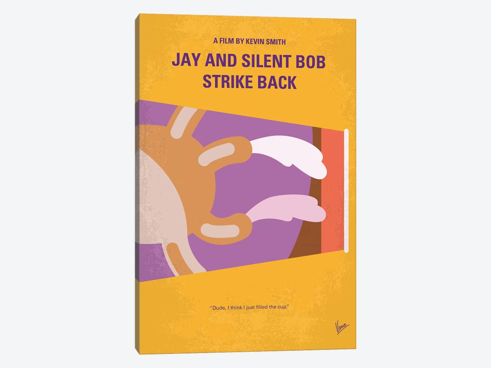 Jay And Silent Bob Strike Back Minimal Movie Poster by Chungkong 1-piece Canvas Artwork
