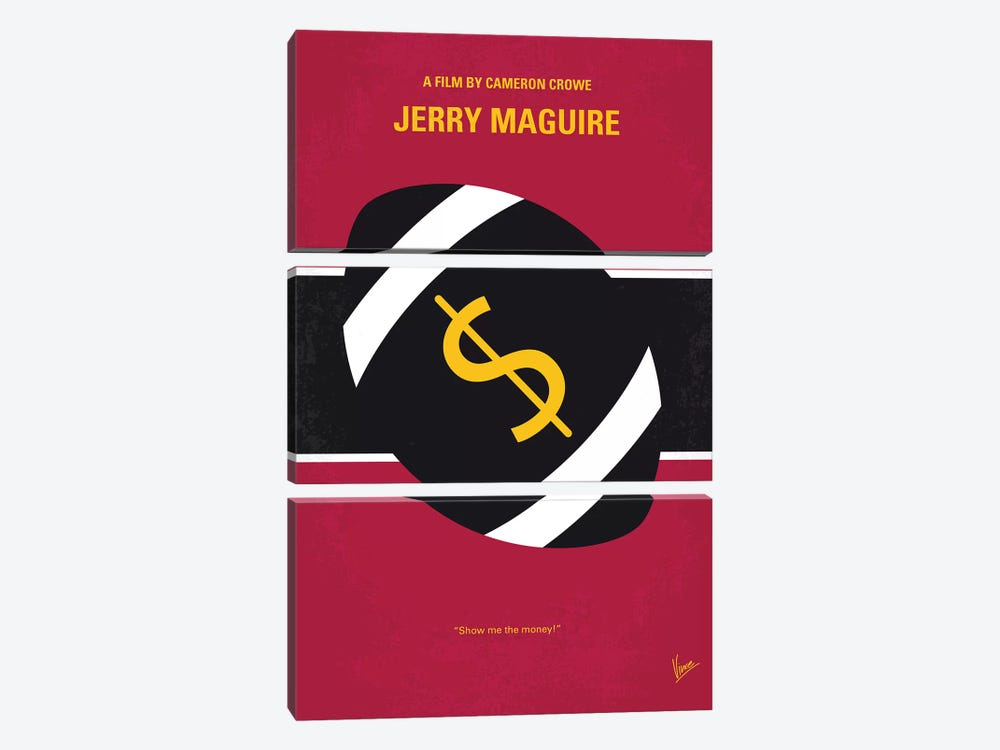 Jerry Maguire Minimal Movie Poster by Chungkong 3-piece Canvas Print