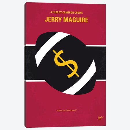 Jerry Maguire Minimal Movie Poster Canvas Print #CKG898} by Chungkong Canvas Wall Art