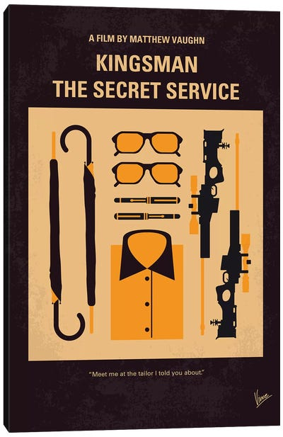 Kingsman Minimal Movie Poster Canvas Art Print