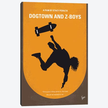 Dogtown And Z-boys Minimal Movie Poster Canvas Print #CKG8} by Chungkong Art Print
