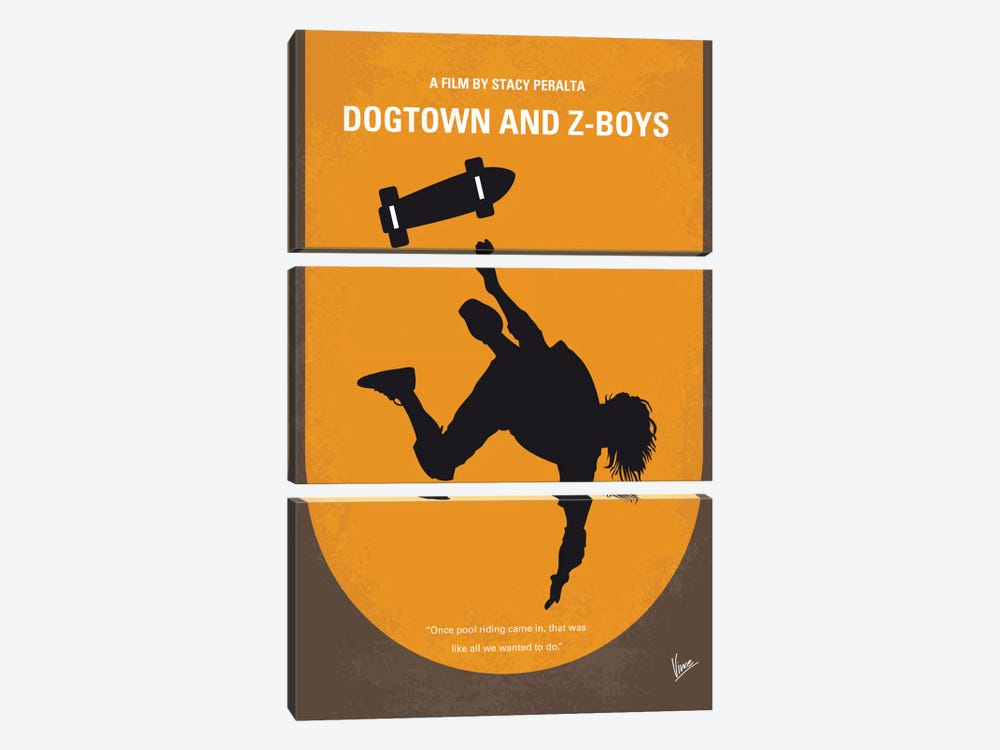 Dogtown And Z-boys Minimal Movie Poster by Chungkong 3-piece Art Print