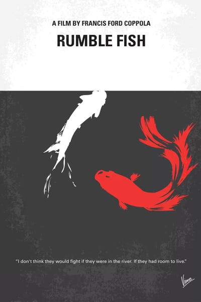 Rumble fish minimal movie poster canvas print by chungkong for Rumble fish movie