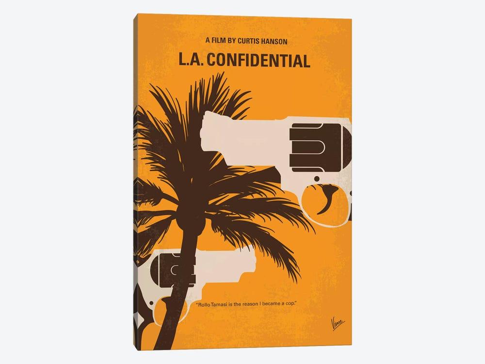 L.A. Confidential Minimal Movie Poster by Chungkong 1-piece Canvas Print