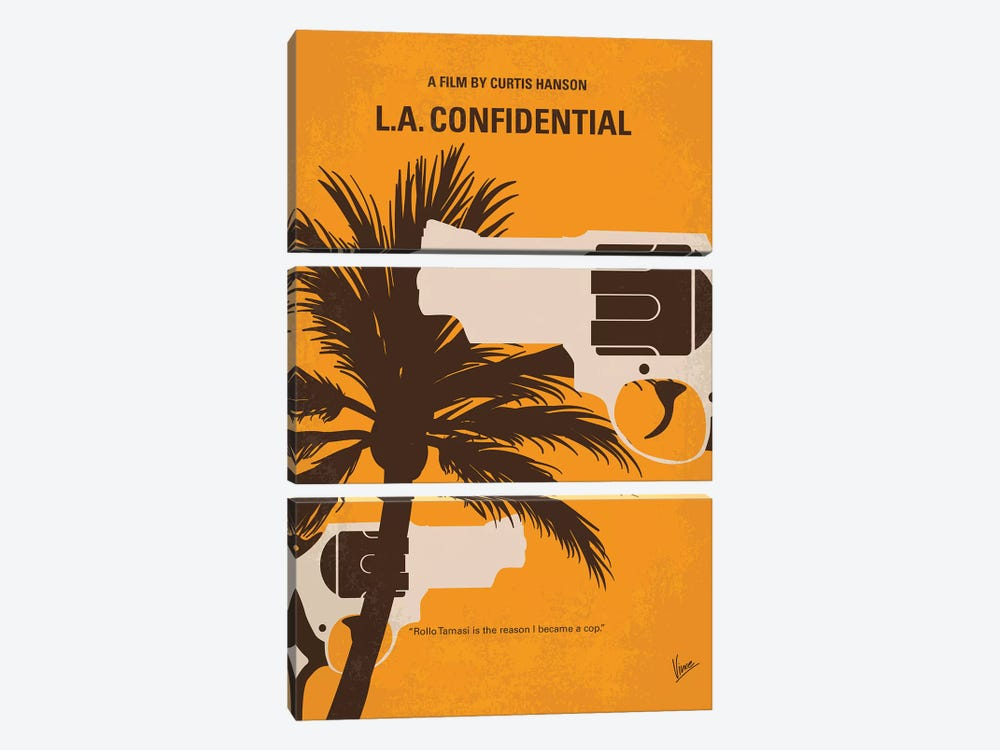 L.A. Confidential Minimal Movie Poster by Chungkong 3-piece Art Print