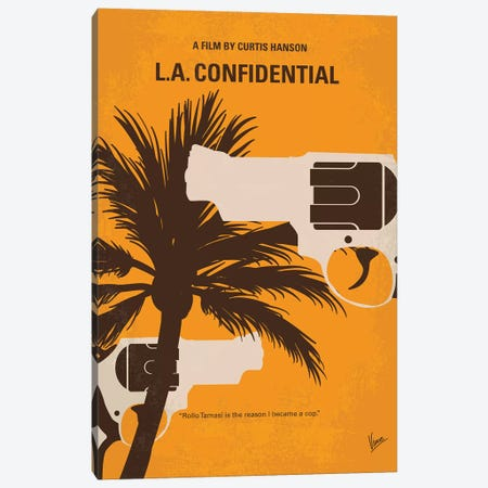 L.A. Confidential Minimal Movie Poster Canvas Print #CKG902} by Chungkong Canvas Artwork