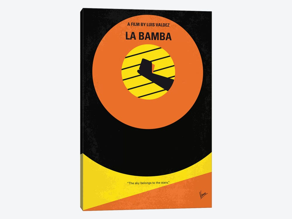 La Bamba Minimal Movie Poster by Chungkong 1-piece Canvas Wall Art