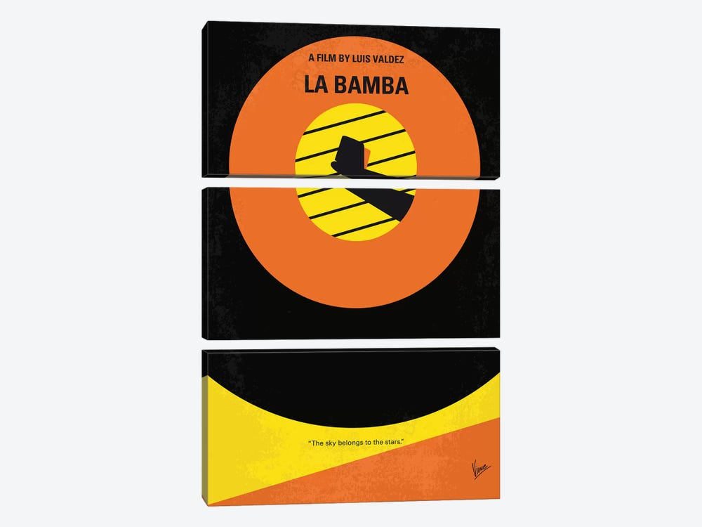 La Bamba Minimal Movie Poster by Chungkong 3-piece Canvas Artwork