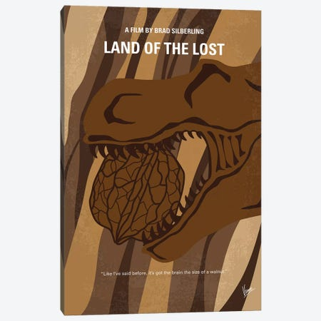 Land Of The Lost Minimal Movie Poster Canvas Print #CKG904} by Chungkong Canvas Art Print