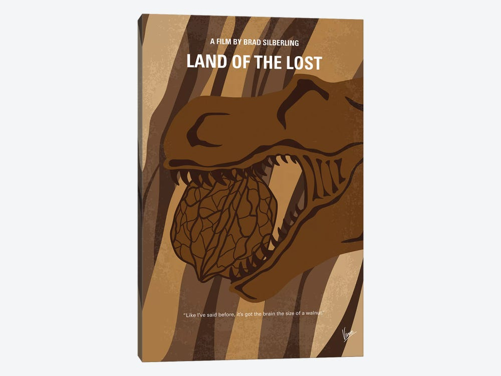 Land Of The Lost Minimal Movie Poster by Chungkong 1-piece Canvas Print