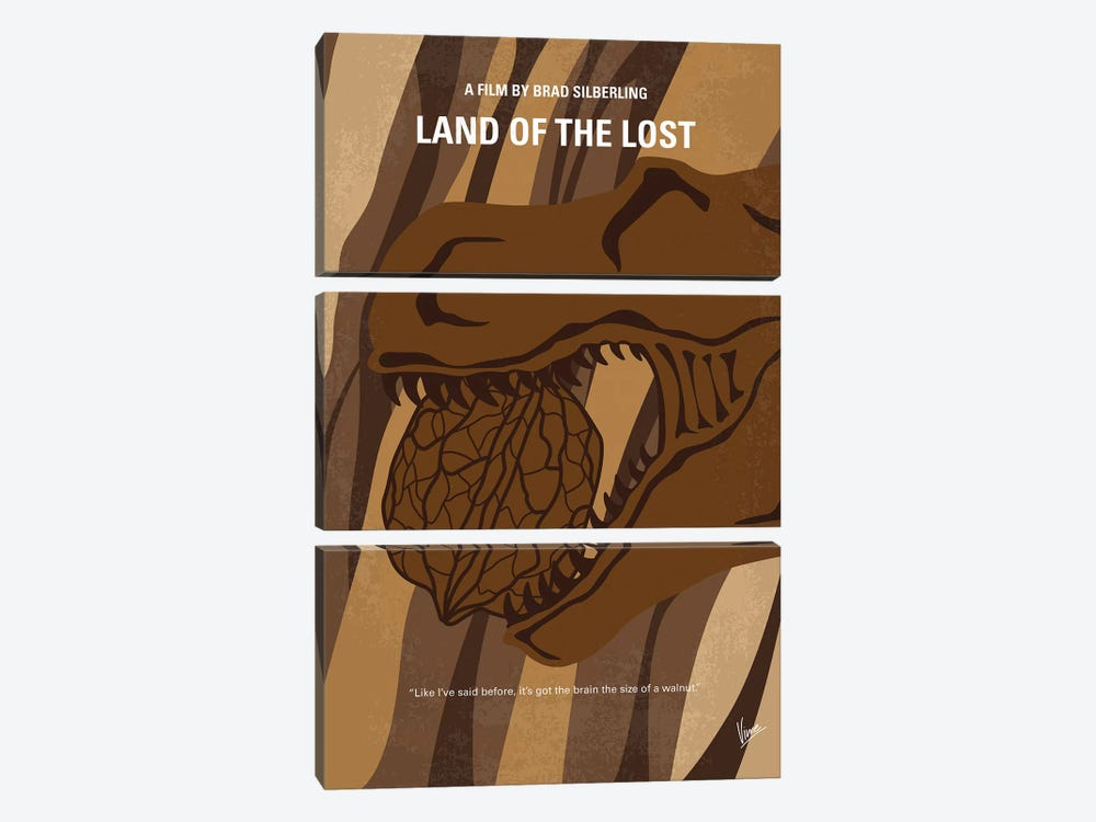 Land Of The Lost Minimal Movie Poster by Chungkong 3-piece Canvas Art Print