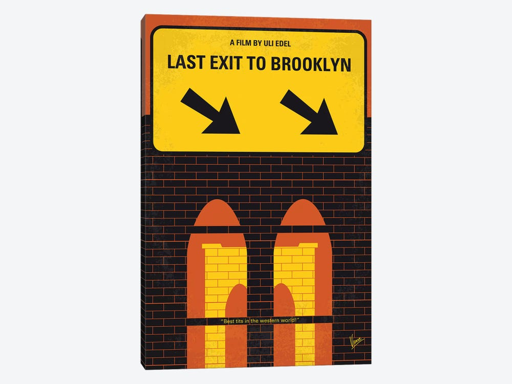 Last Exit To Brooklyn Minimal Movie Poster by Chungkong 1-piece Canvas Artwork