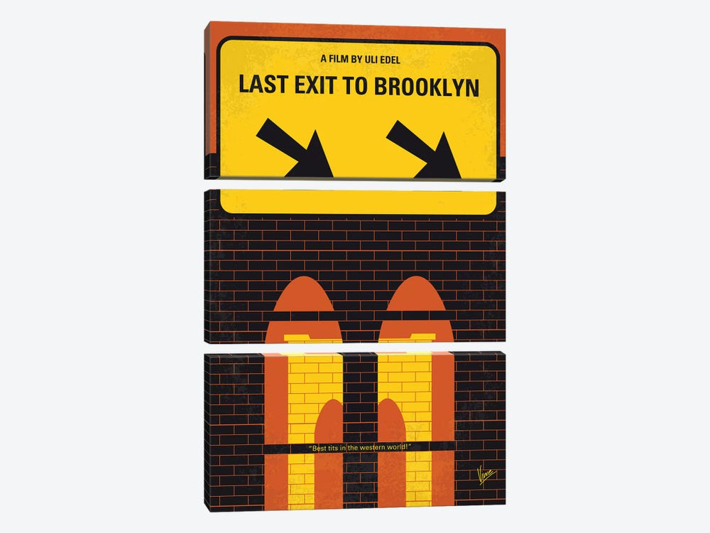 Last Exit To Brooklyn Minimal Movie Poster 3-piece Canvas Artwork