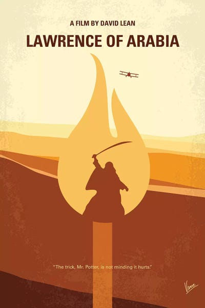 Lawrence of arabia minimal movie poster canvas art for Minimal art gregory battcock