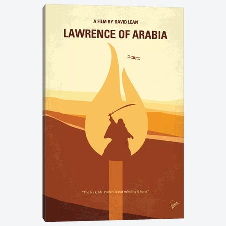 Lawrence Of Arabia Minimal Movie Poster Canvas Print #CKG906} by Chungkong Art Print