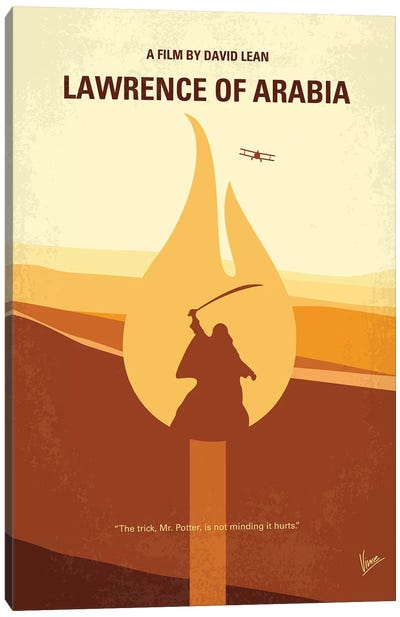 Lawrence Of Arabia Minimal Movie Poster Canvas Art Print