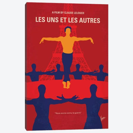 Les Uns Et Les Autres Minimal Movie Poster Canvas Print #CKG907} by Chungkong Canvas Print