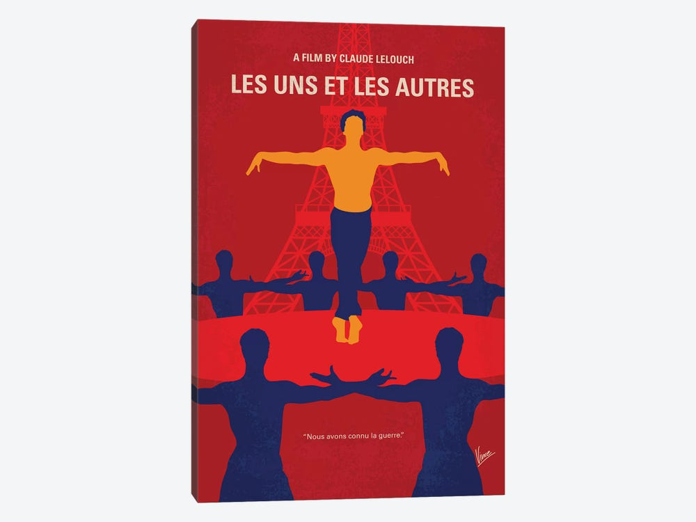 Les Uns Et Les Autres Minimal Movie Poster 1-piece Canvas Art