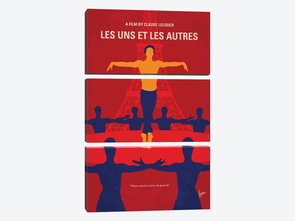 Les Uns Et Les Autres Minimal Movie Poster 3-piece Canvas Artwork