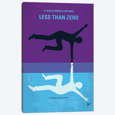 Less Than Zero Minimal Movie Poster Canvas Print #CKG908} by Chungkong Canvas Artwork