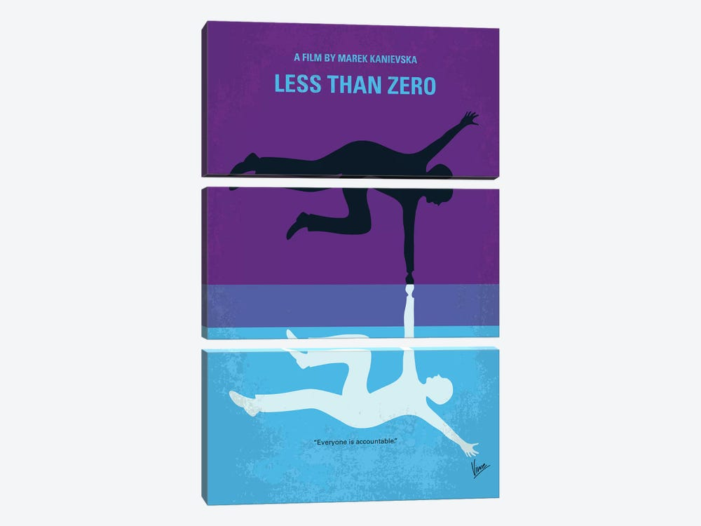 Less Than Zero Minimal Movie Poster by Chungkong 3-piece Art Print
