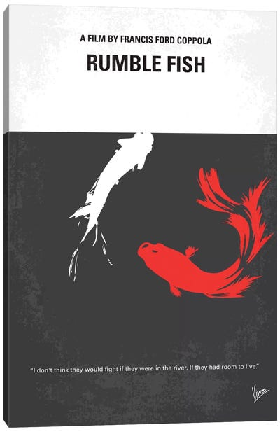 Rumble Fish Minimal Movie Poster Canvas Print #CKG90
