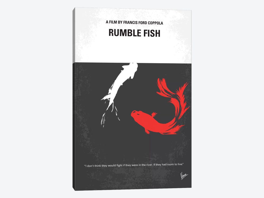 Rumble Fish Minimal Movie Poster by Chungkong 1-piece Canvas Artwork