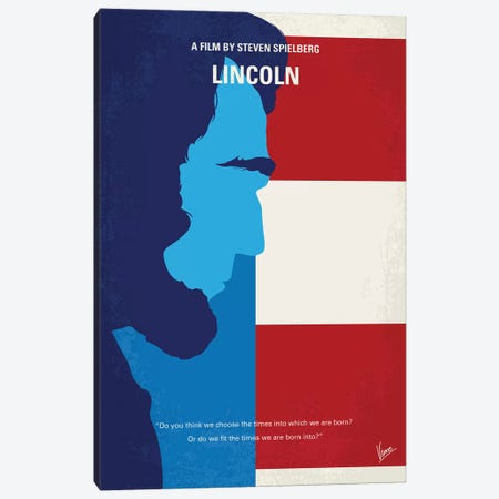 Lincoln Minimal Movie Poster Canvas Print #CKG910} by Chungkong Canvas Art Print