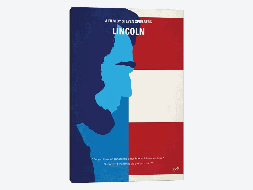 Lincoln Minimal Movie Poster by Chungkong 1-piece Canvas Wall Art