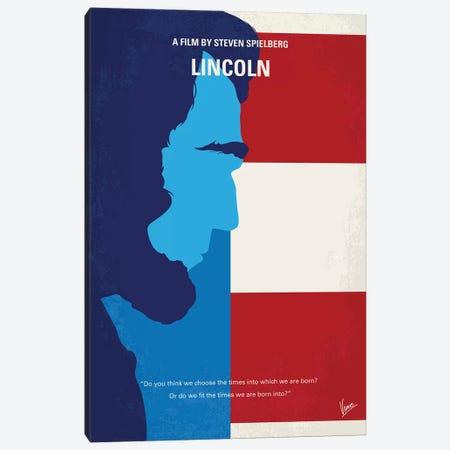 Lincoln Minimal Movie Poster Canvas Print #CKG910} by Chungkong Canvas Art Print