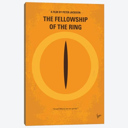 LOTR I Minimal Movie Poster Canvas Print #CKG911} by Chungkong Art Print