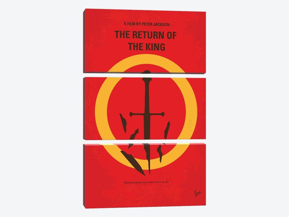 LOTR III Minimal Movie Poster by Chungkong 3-piece Art Print