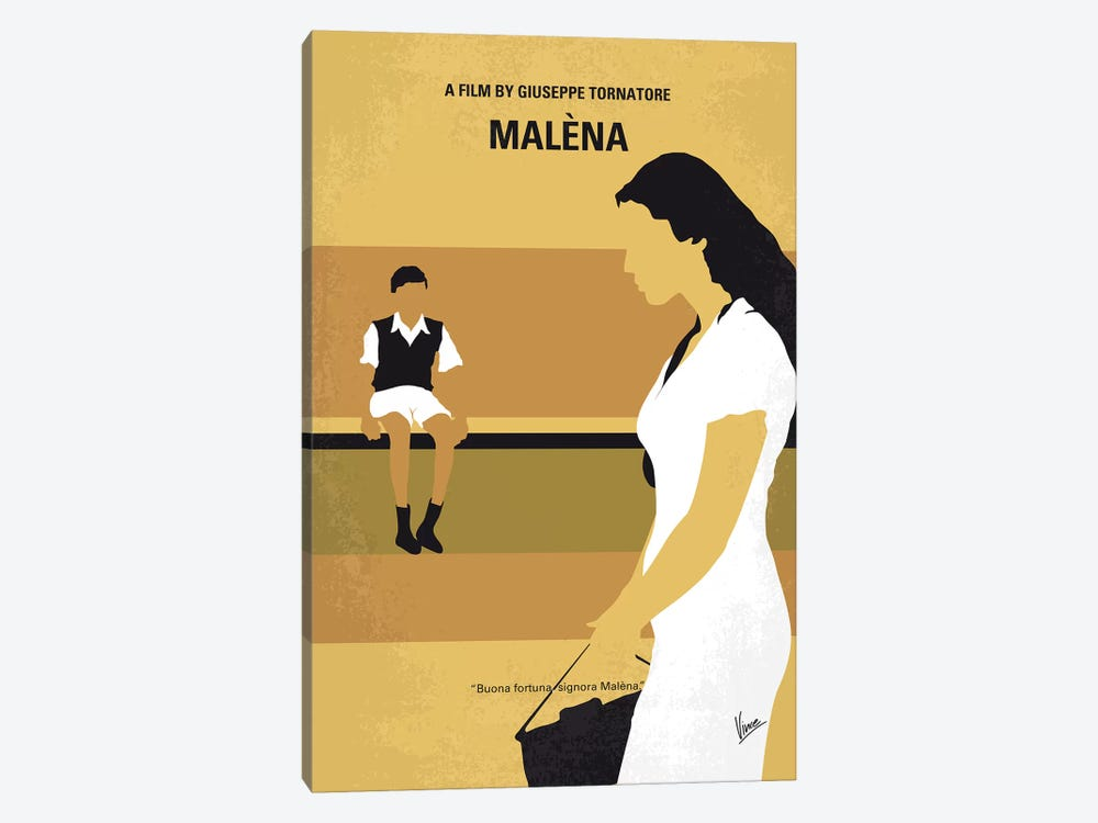 Malena Minimal Movie Poster by Chungkong 1-piece Canvas Wall Art