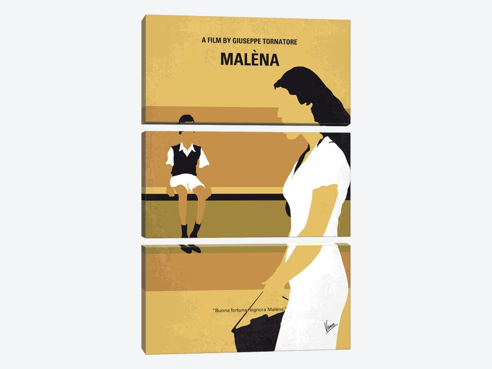Malena Minimal Movie Poster by Chungkong 3-piece Canvas Wall Art
