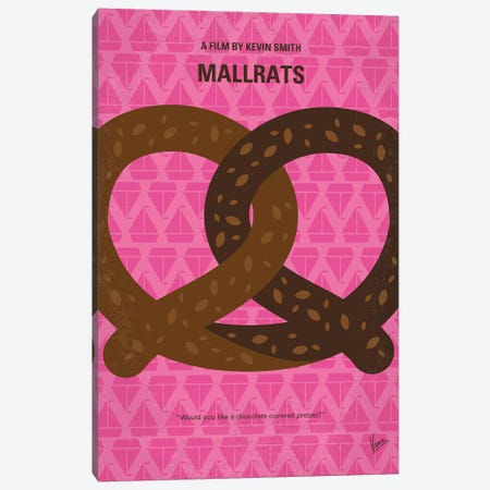 Mallrats Minimal Movie Poster Canvas Print #CKG915} by Chungkong Canvas Wall Art