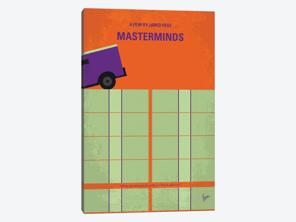 Masterminds Minimal Movie Poster by Chungkong 1-piece Canvas Art